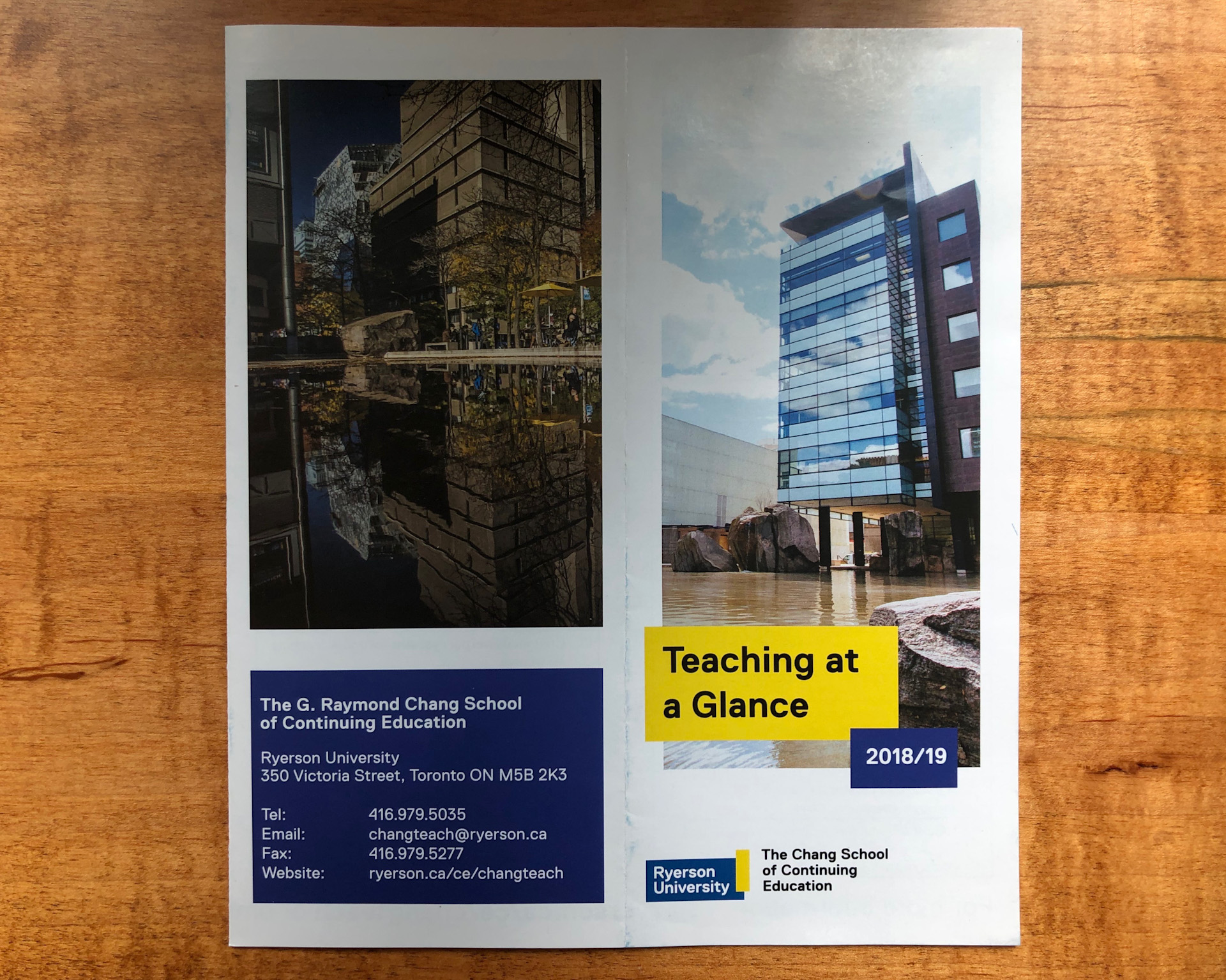 Ryerson University - Teaching at a glance