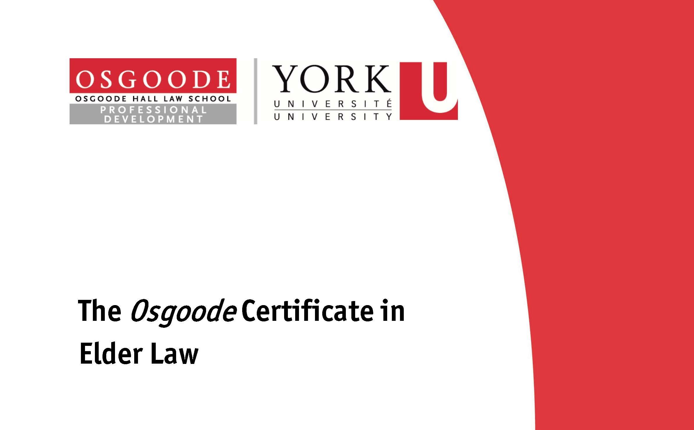2021 Certificate in Elder Law Cover